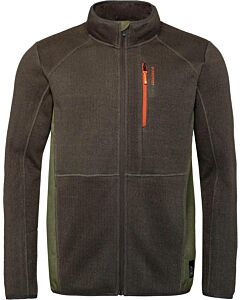 PROTEST - thomson full zip top - Bruindonker