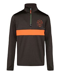 PROTEST - crane jr 1/4 zip top - Bruindonker-Multicolour