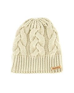 SINNER - cable beanie - Beige-Multicolour