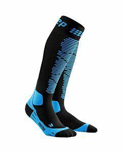 CEP - Cep ski merino socks wmns - Zwart-Blauw